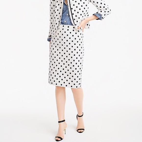 76328cf1 J. Crew Dresses & Skirts - J. Crew Pencil Skirt Polka Dot Textured Tweed